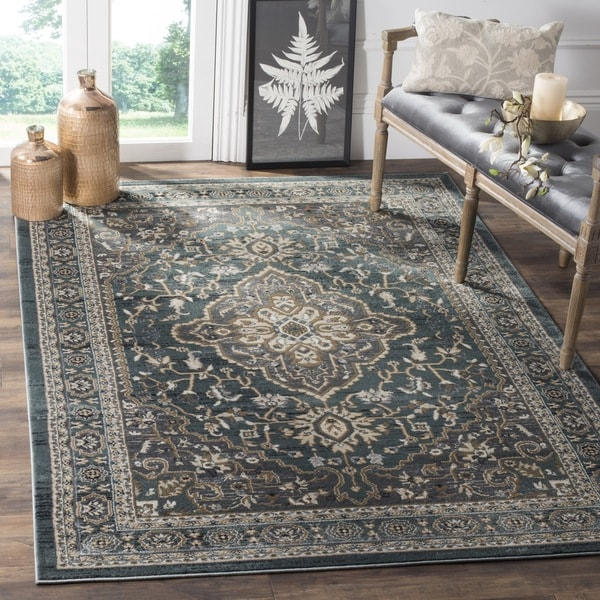 Safavieh Lyndhurst Traditional Oriental Teal/ Grey Rug (8