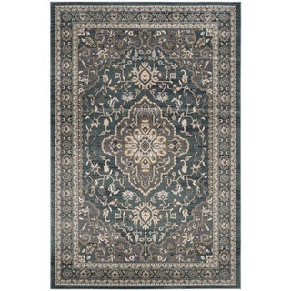 Safavieh Lyndhurst Ledja Traditional Oriental Rug (8 x 10 - Teal/Grey)