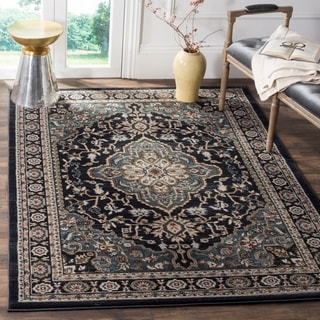Safavieh Lyndhurst Traditional Oriental Anthracite/ Teal Rug (8' x 10')