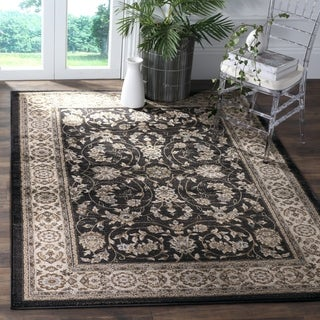 Safavieh Lyndhurst Traditional Oriental Anthracite/ Cream Rug (8' x 10')