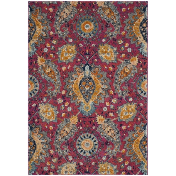 Safavieh Madison Bohemian Fuchsia Gold Rug 7 X 10