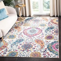 Safavieh Madison Belle Paisley Boho Glam Cream/ Light Grey Rug - 8' x 10'