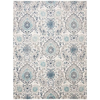 Safavieh Madison Belle Vintage Boho Paisley Rug (23 x 16 Runner - Cream/Light Grey)
