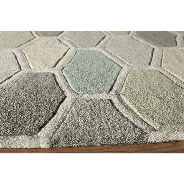 """Momeni Bliss Multicolor Stiles Hexagon Hand-Tufted Runner Rug - Multi - 2'3"""" x 8'"""