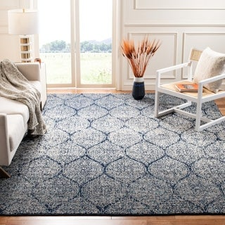 Safavieh Madison Vintage Navy/ Silver Distressed Rug (8' x 10')