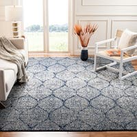 Safavieh Madison Vintage Navy/ Silver Distressed Rug (9' x 12')