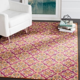 Safavieh Madison Bohemian Fuchsia / Gold Rug (7' x 10')