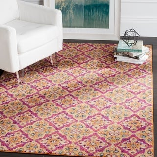 Safavieh Madison Bohemian Fuchsia / Gold Rug (9' x 12')