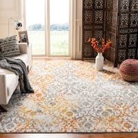 "Safavieh Madison Vintage Cream/ Orange Distressed Rug - 6'7"" x 9'2"""