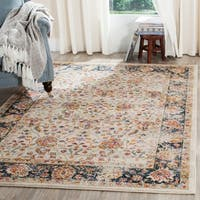 Safavieh Madison Vintage Oriental Cream/ Navy Distressed Rug - 7' x 10'