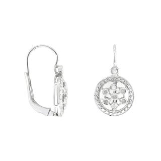 Sterling Silver .15ct TDW Diamond Earrings (I-J, SI1-SI2)