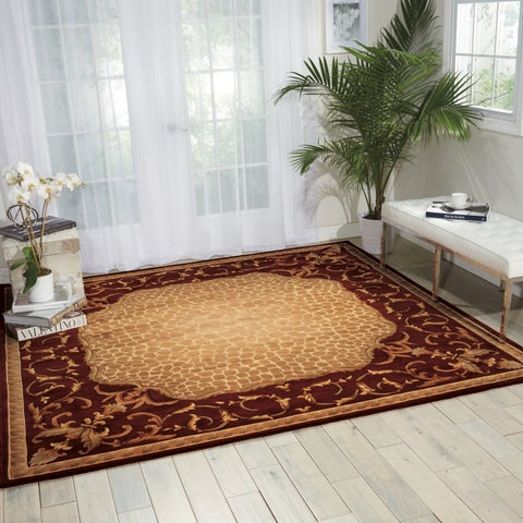 Nourison Versailles Palace Red Area Rug (8' Square) - 8' Square