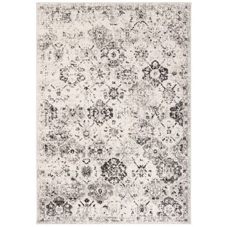 Safavieh Madison Avery Distressed Vintage Boho Oriental Rug (8 x 10 - Silver/Ivory)
