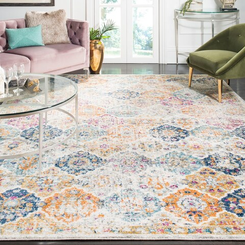 Safavieh Madison Avery Boho Vintage Cream/ Multi Distressed Rug - 9' x 12'