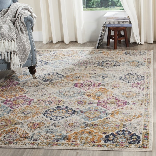 Safavieh Madison Bohemian Cream Multicolored Rug 9 X