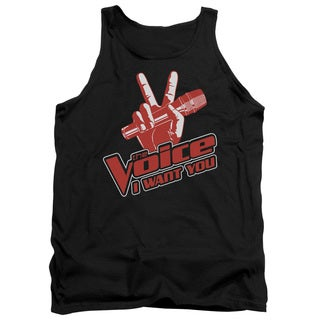 Voice/Red and White Adult Tank in Black