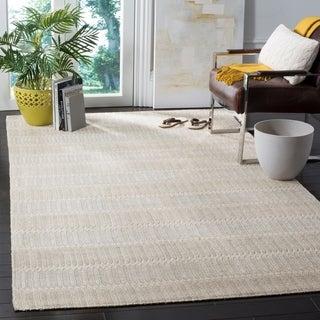 Safavieh Hand-Woven Marbella Flatweave Beige Rug (8' x 10')