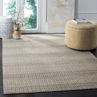 Safavieh Hand-Woven Marbella Flatweave Camel / Grey Rug (8' x 10') - 8' x 10'