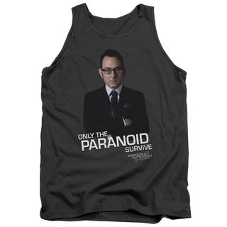Person Of Interest/Paranoid Adult Tank in Charcoal