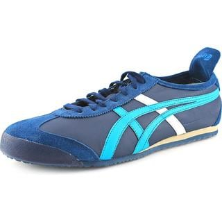 Onitsuka Tiger by Asics Men's 'Mexico 66' Blue Leather Athletic Shoes
