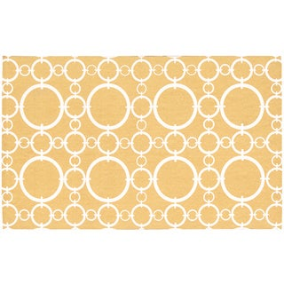 Waverly Art House Connected Gold Area Rug (2'3 x 3'9) by Nourison