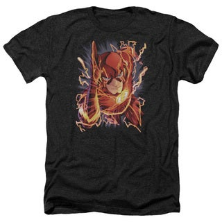 JLA/Flash #1 Adult Heather T-Shirt in Black
