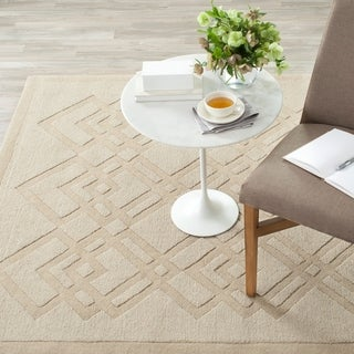 Safavieh Martha Stewart Winding Braid Taupe / Grey Wool Rug (9' x 12')