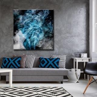 modern art for living room. Ready2HangArt Tristan Scott  Glitzy Mist XIV Canvas Art Blue Gallery For Less Overstock com