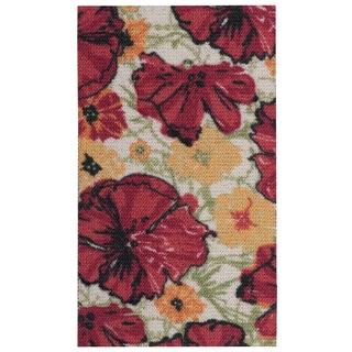 Nourison Vista Ivory/Red Area Rug (1'6 x 2'6)