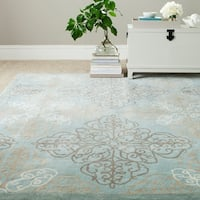 Safavieh Martha Stewart Winding Braid Robin's Egg Wool Rug - 8' x 10'