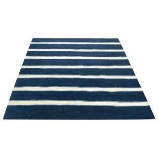 Safavieh Martha Stewart Collection Wrought Iron / Navy Wool Rug (8' x 10')