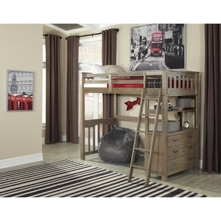 Highlands Collection Grey Wood Twin Loft Bed