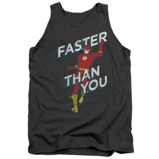 DC/Faster Than You Adult Tank in Charcoal