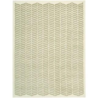 Nourison Silken Textures Light Green Area Rug (8'6 x 11'6)