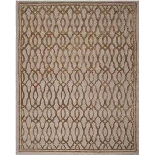 Martha Stewart by Safavieh Handmade Brown/ Bronze Wool Rug (8' x 10')