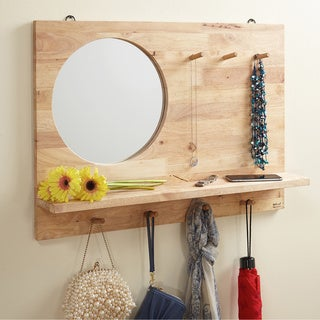 Simple Living Her Rubberwood Mirror