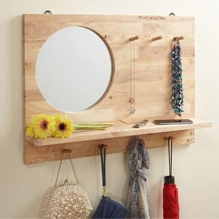 Simple Living Her Rubberwood Mirror