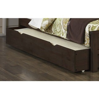 Highlands Collection Brown Wood Trundle Bed