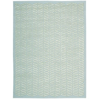 Nourison Silken Textures Aqua Area Rug (8'6 x 11'6)