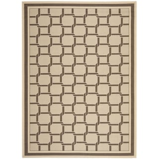 Martha Stewart by Safavieh Resort Weave Cream/ Chocolate Indoor/ Outdoor Rug (8' x 11')
