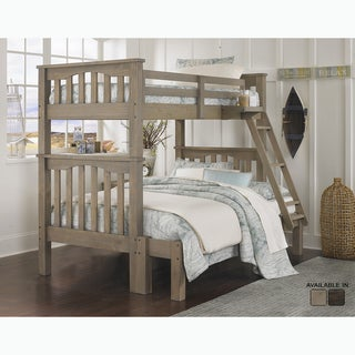 Highlands Collection Twin Over Full Harper Bunk Bed in Driftwood by Hillsdale Kids and Teen