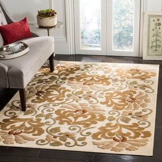 Martha Stewart by Safavieh Floating Dahlia Cream Viscose Rug (8' 10 x 12' 2)