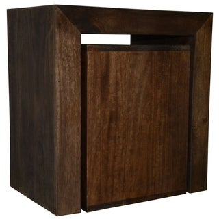 Y Decor Dark Stain Solid Mango Wood Nesting Side Table Cubes