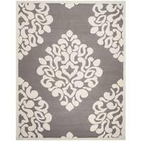 Martha Stewart by Safavieh Floral Damask Mushroom Wool Rug - 8' x 10'