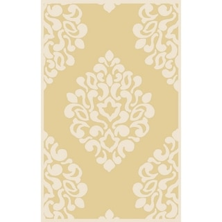 Martha Stewart by Safavieh Floral Damask Dune Wool Rug (9' x 12')