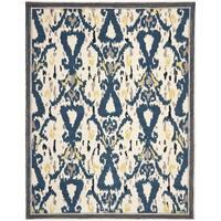 Martha Stewart by Safavieh Ikat Pendant Clove Wool Rug - 9' x 12'