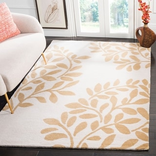 Martha Stewart by Safavieh Leaf Stamp Dune Wool Rug (9' x 12')