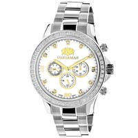 Luxurman Liberty 2-carat Two-tone Men's Diamond Watch With Swiss Movement