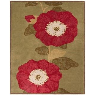 Safavieh Handmade Martha Stewart Collection Dill Wool / Cotton Rug (8' x 10')