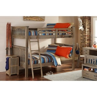 NE Kids Highlands Collection Driftwood Full-over-Full Harper Bunk Bed